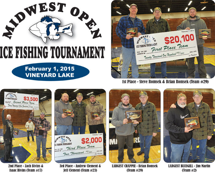 Midwest Open Fishing Tournament 2015 Winners